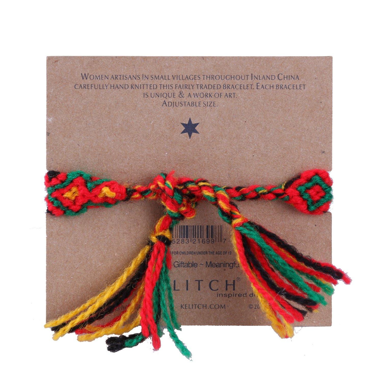 KELITCH Woolen Threads Handmade Braided Friendship Bracelet for Women Kelitch Jewelry CAZX063B