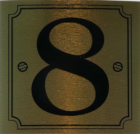 eCobbler Black Stick On Door Number 8 by eCobbler