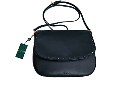 7fb901f82c Image Unavailable. Image not available for. Color  Ralph Lauren Cobden Leather  Saddle Crossbody Bag Black
