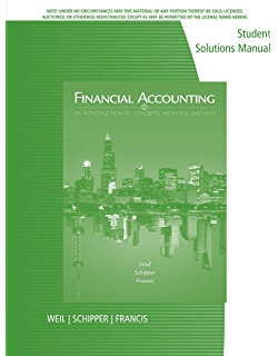 Amazon financial accounting an introduction to concepts student solutions manual for weilschipperfrancis financial accounting an introduction to fandeluxe Choice Image