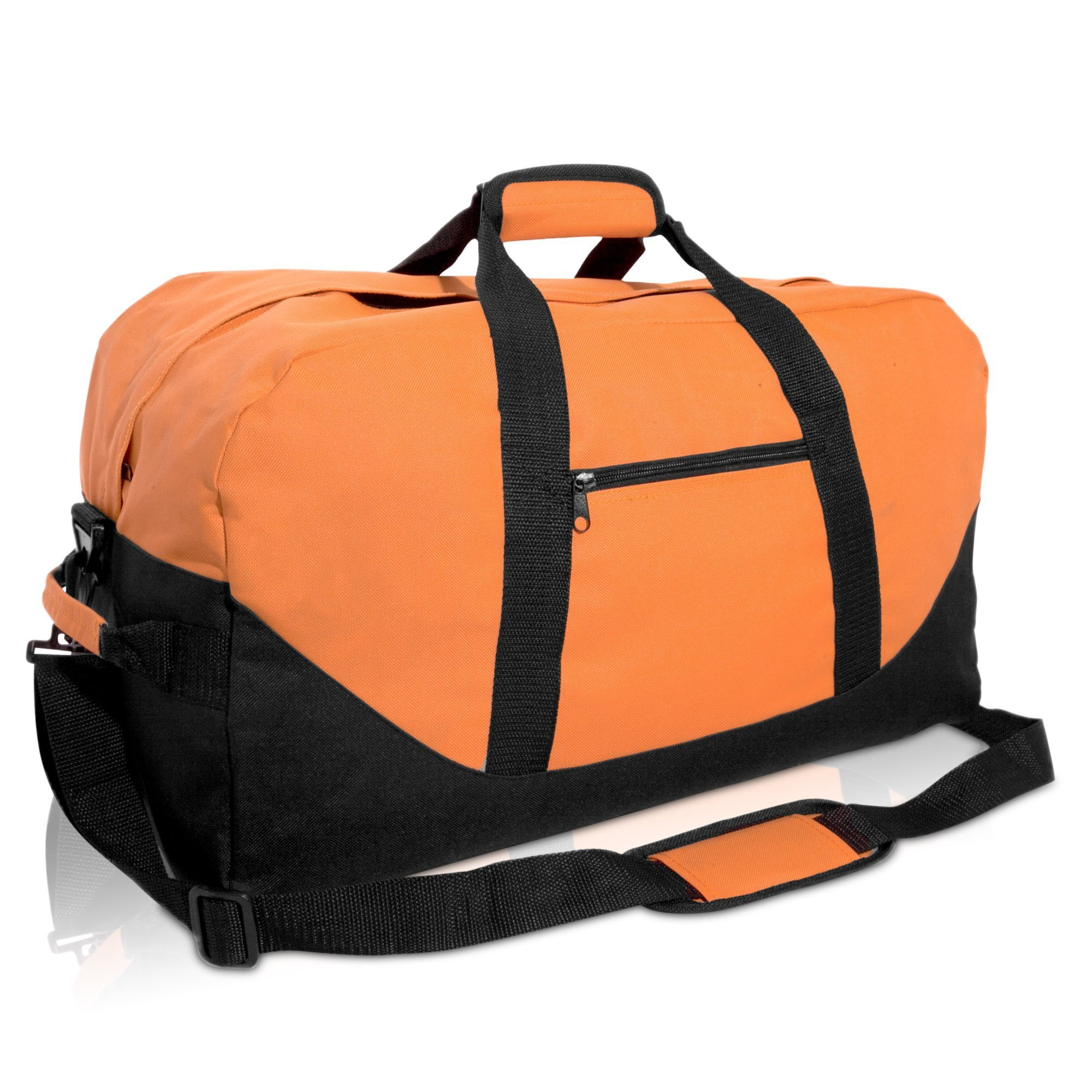 21'' Large Duffle Bag with Adjustable Strap (Orange) by DALIX
