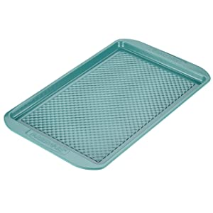 Farberware purECOok Hybrid Ceramic Nonstick Bakeware Baking Sheet & Cookie Pan, 11-Inch x 17-Inch, Aqua
