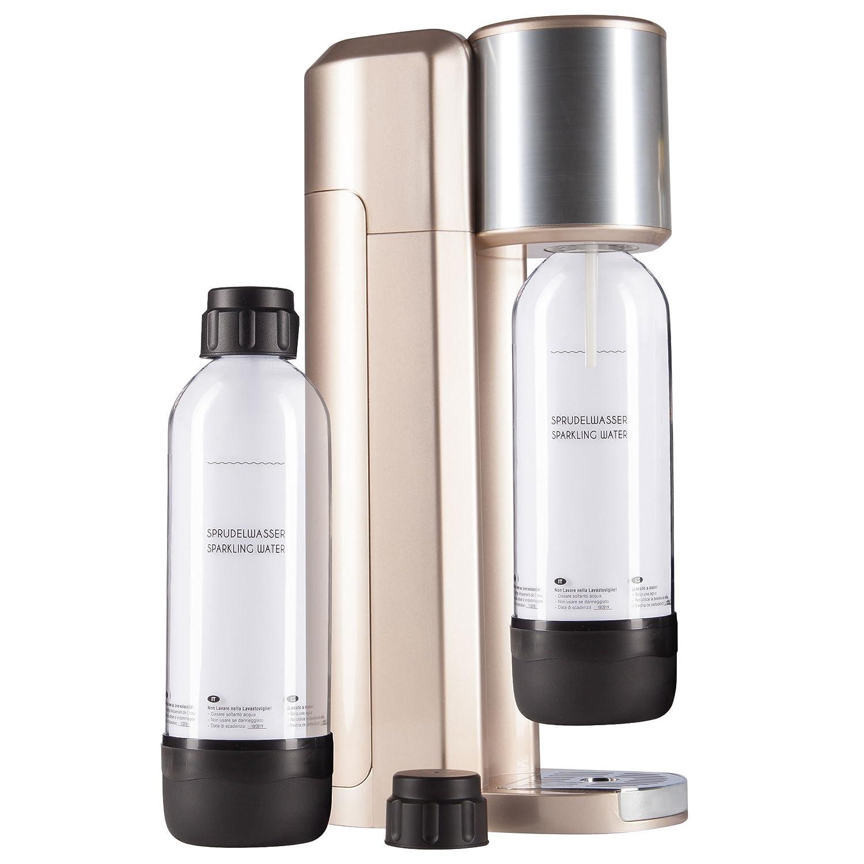 Levivo Wassersprudler Set, Trinkwassersprudler Starter Set inkl. 2 Sprudlerflaschen aus PET, Soda Trend, Trinkwasser Wassersprudler, Wassersprudler kaufen,