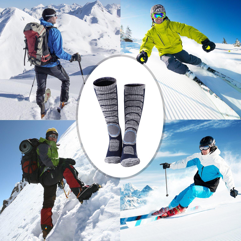 Diealles 2 Pares Calcetines para Hombres de Esquí para Esquiar, IR de Excursión (37-40) - Un Par de Negro, Un Par de Azul Oscuro: Amazon.es: Deportes y aire ...