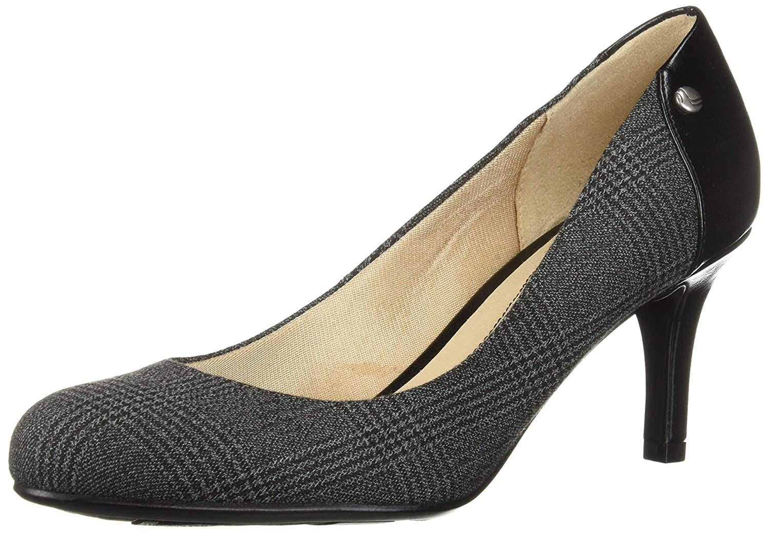 Black Grey LifeStride Womens Lively Dress Pump Pump