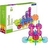 Guidecraft Interlox Discs - 96 Piece Set Interlocking Construction Toy