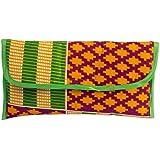 Novica Cotton clutch handbag, Kente Joy