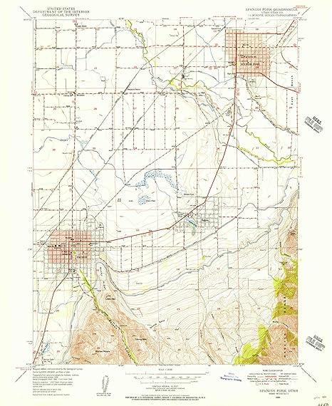 Elevation Map Of Spain.Amazon Com Yellowmaps Spanish Fork Ut Topo Map 1 24000 Scale 7 5