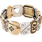 Alora Tile Stretch Bracelet, Family Is Forever, One Size