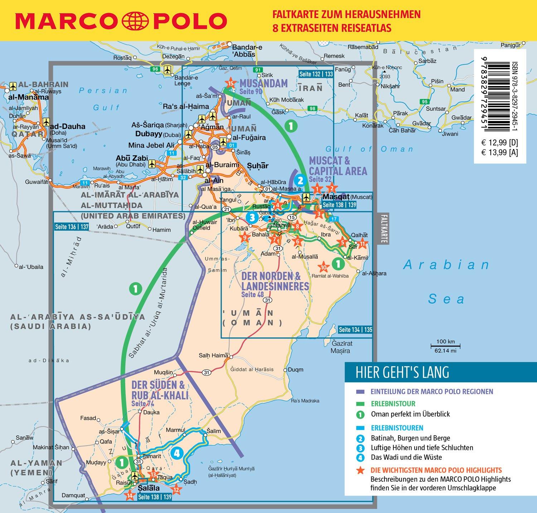 Karte Oman.Marco Polo Reiseführer Oman Reisen Mit Insider Tipps Inklusive