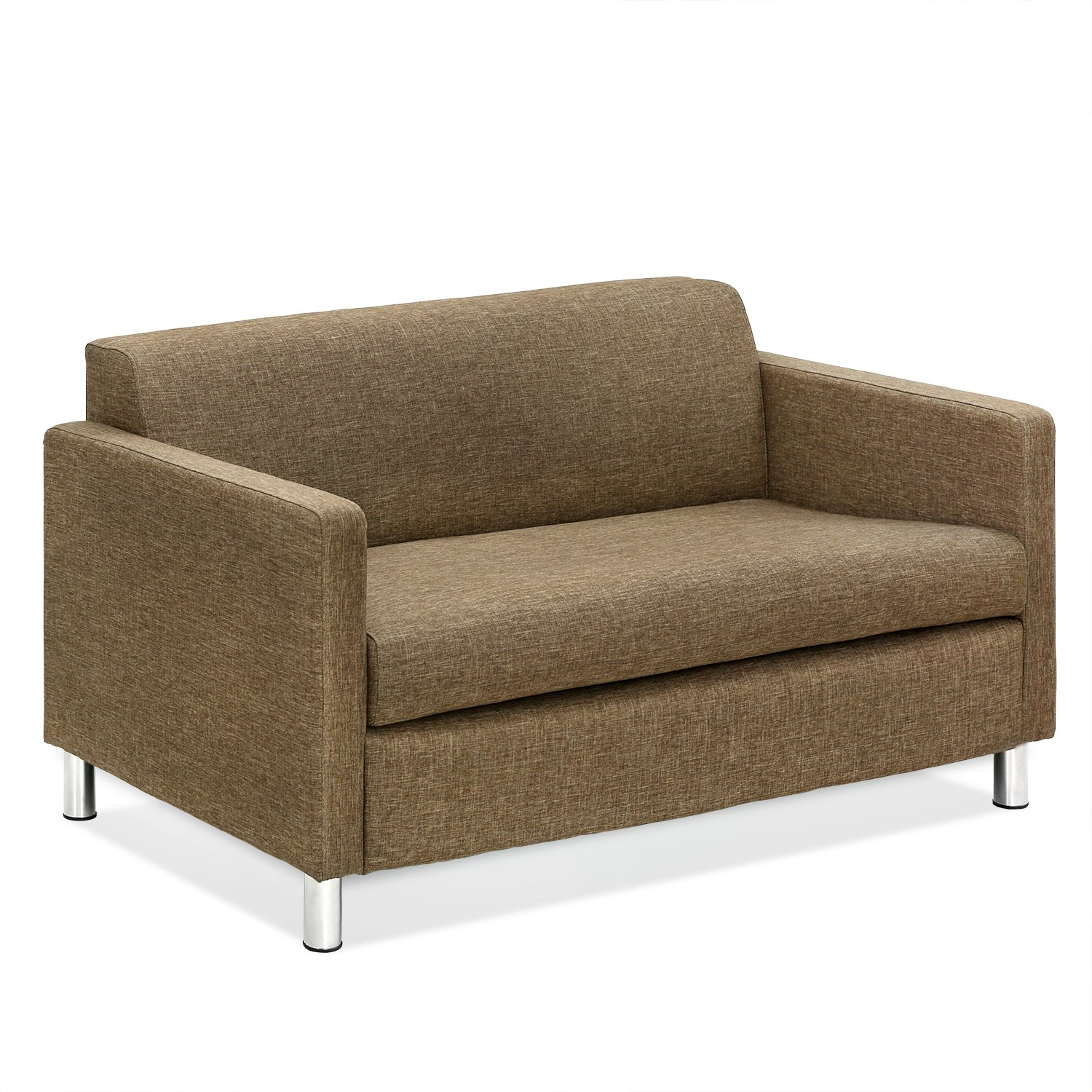 Amazon.com: Furinno Simply Home Loveseat Sofa, Brown ...