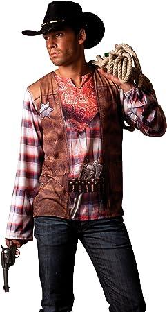 César - Disfraz de vaquero (cowboy) para hombre (adulto), talla 52 ...