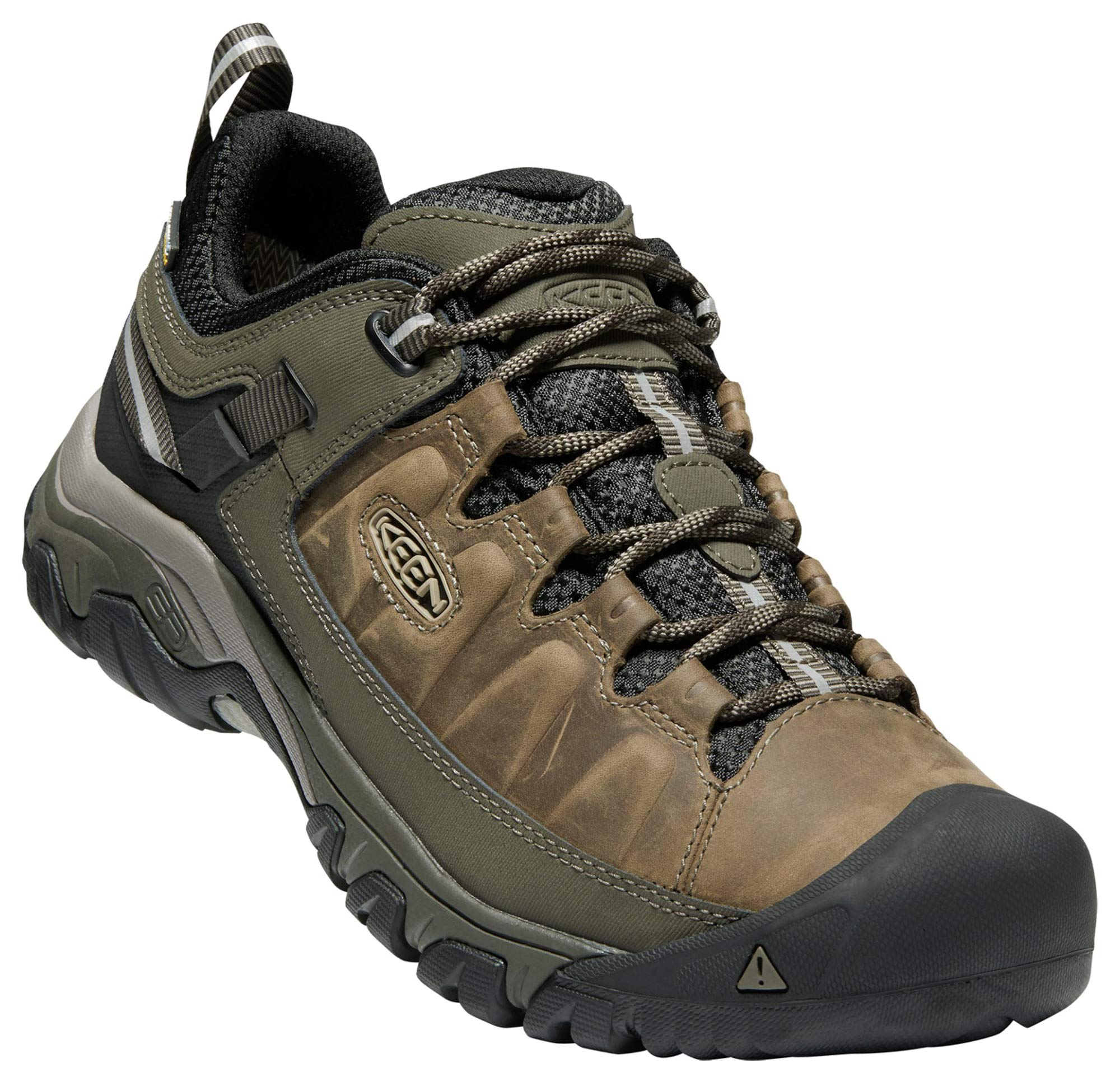 KEEN Men's Targhee iii Leather wp-m Hiking Shoe, Bungee Cord/Black, 12 M US by KEEN