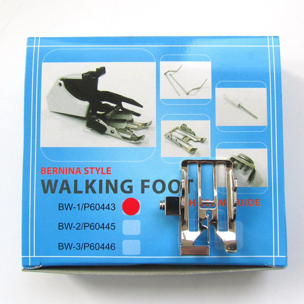 Kunpeng P60443D 1SET Three Changeable Sole Walking Foot + Seam Guide Bernina NEW STYLE Sewing Machine