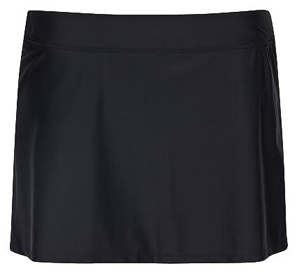 6dff09dfcb6058 Landora® - hochwertiger Damen Strandrock / Baderock in schwarz, Größe 34