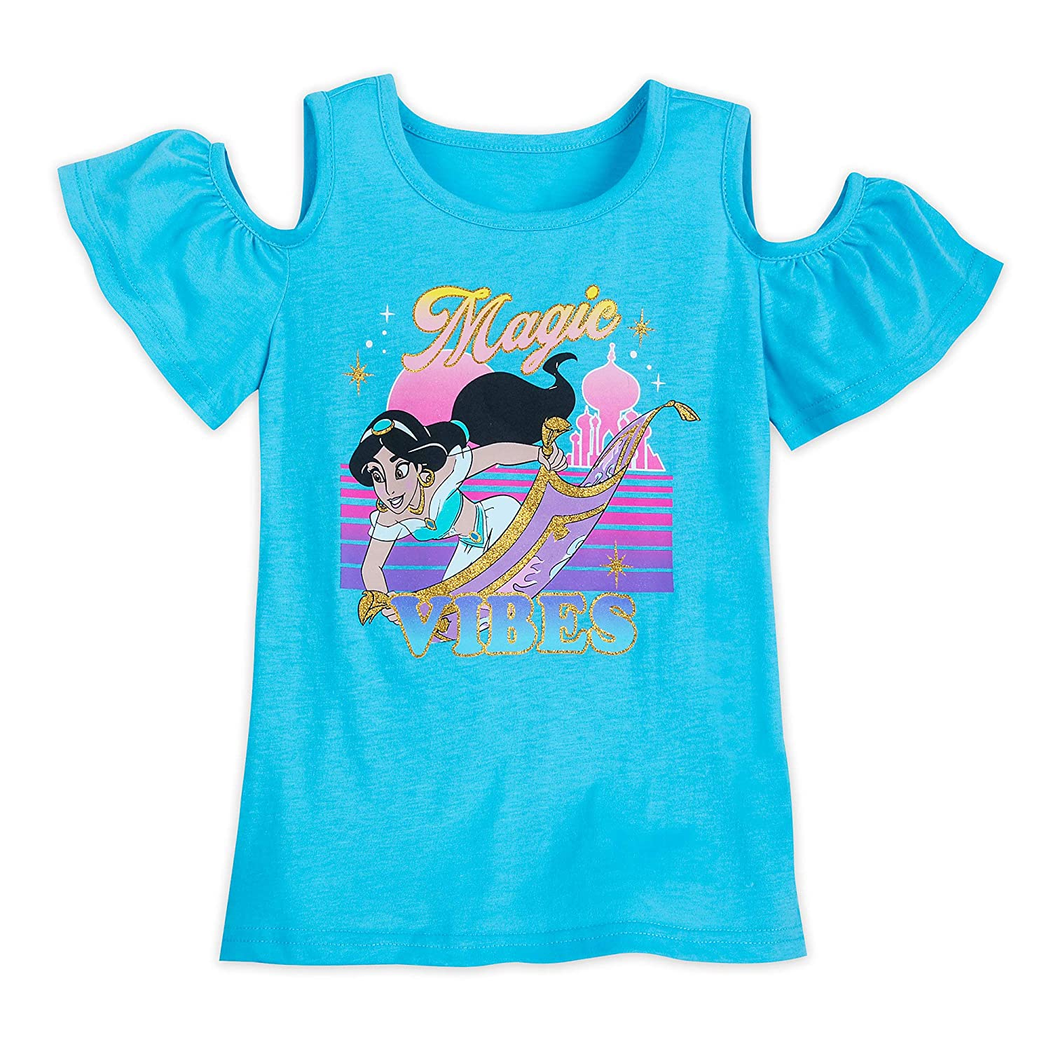 Aladdin Multi Disney Jasmine Cold Shoulder T-Shirt for Girls