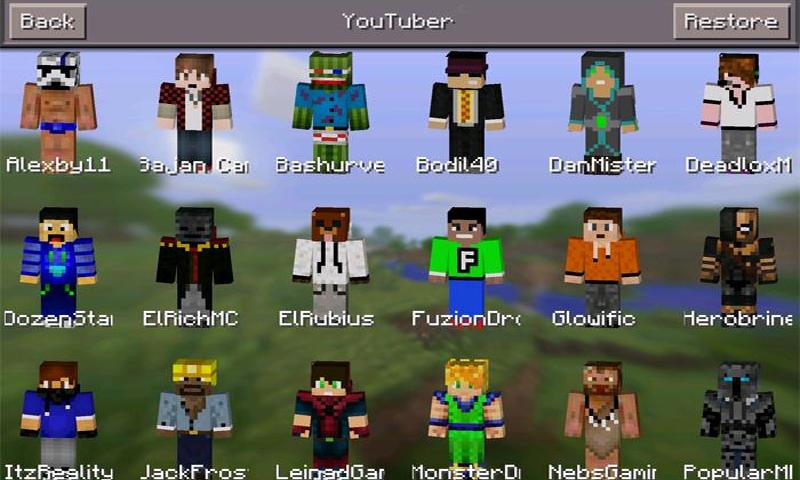 Skins Youtubers For Minecraft Comyoutuberskinsbestnews Arcade - Skins para minecraft youtuber