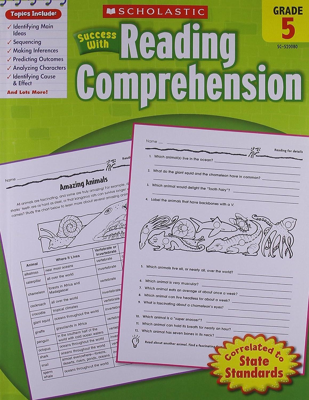 Scholastic Success with Reading Comprehension, Grade 5: Scholastic:  9780545200806: Amazon.com: Books