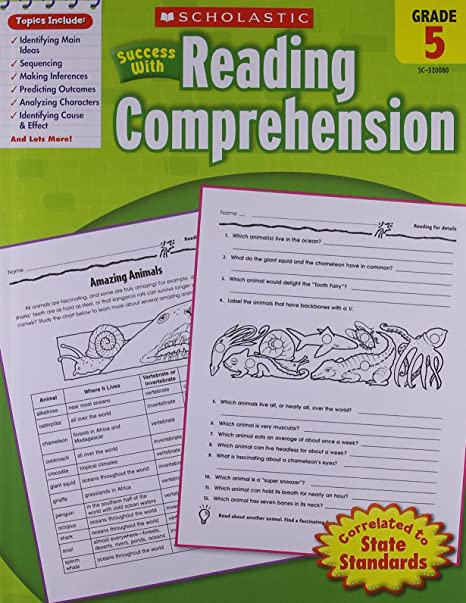 Scholastic Success with Reading Comprehension, Grade 5: Scholastic ...