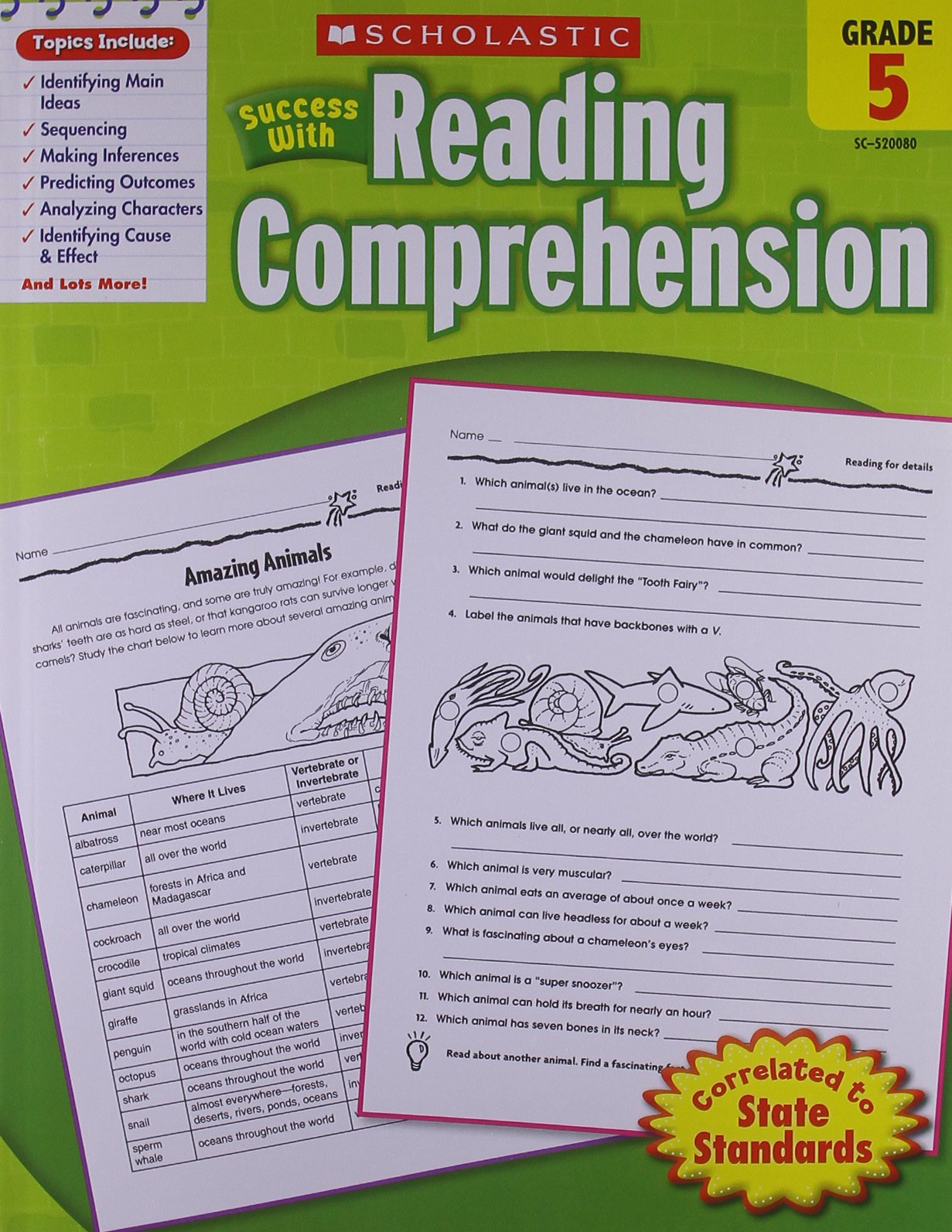 Scholastic Success with Reading Comprehension, Grade 5 ...