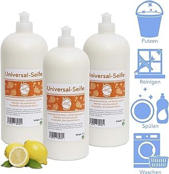 Jabón universal de calidad para ascenso, 3 x 1 l, jabón neutro ...