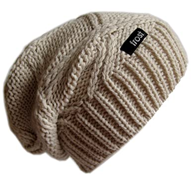 99ea6c823c37e Frost Hats M-113NF BEIGE Winter Hat for Women Slouchy Beanie Chunky Knitted  Hat Winter