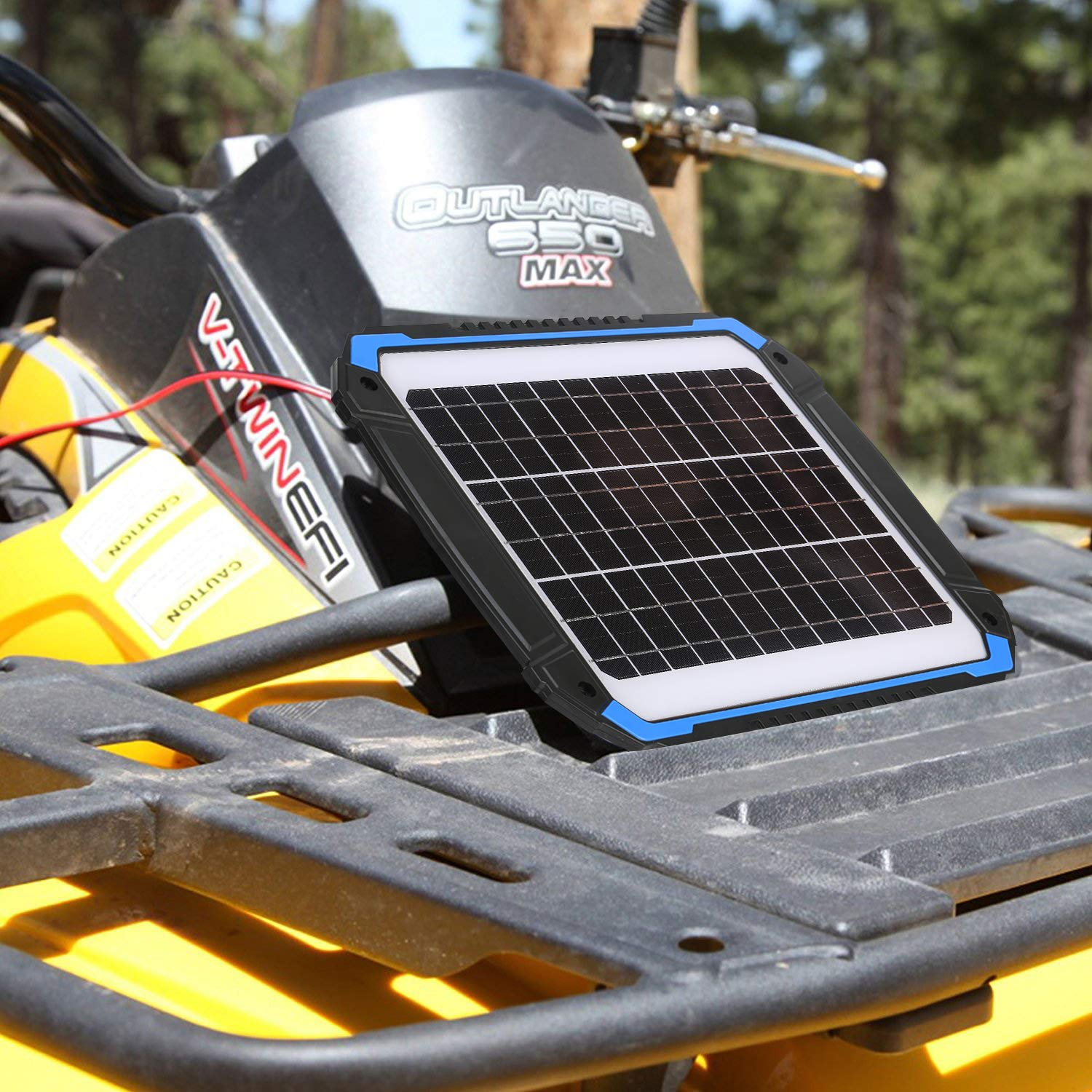 SUNER POWER 12V Solar Car Battery Charger & Maintainer - Portable 14W Solar Panel Trickle Charging Kit for Automotive, Motorcycle, Boat, Marine, RV, Trailer, Powersports, Snowmobile, etc. by SUNER POWER (Image #5)