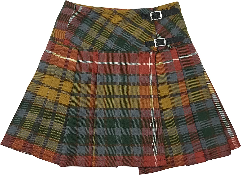 Glasgow Kilt Company Mini Gonna da Donna 16,5 cm in Tartan Scozzese