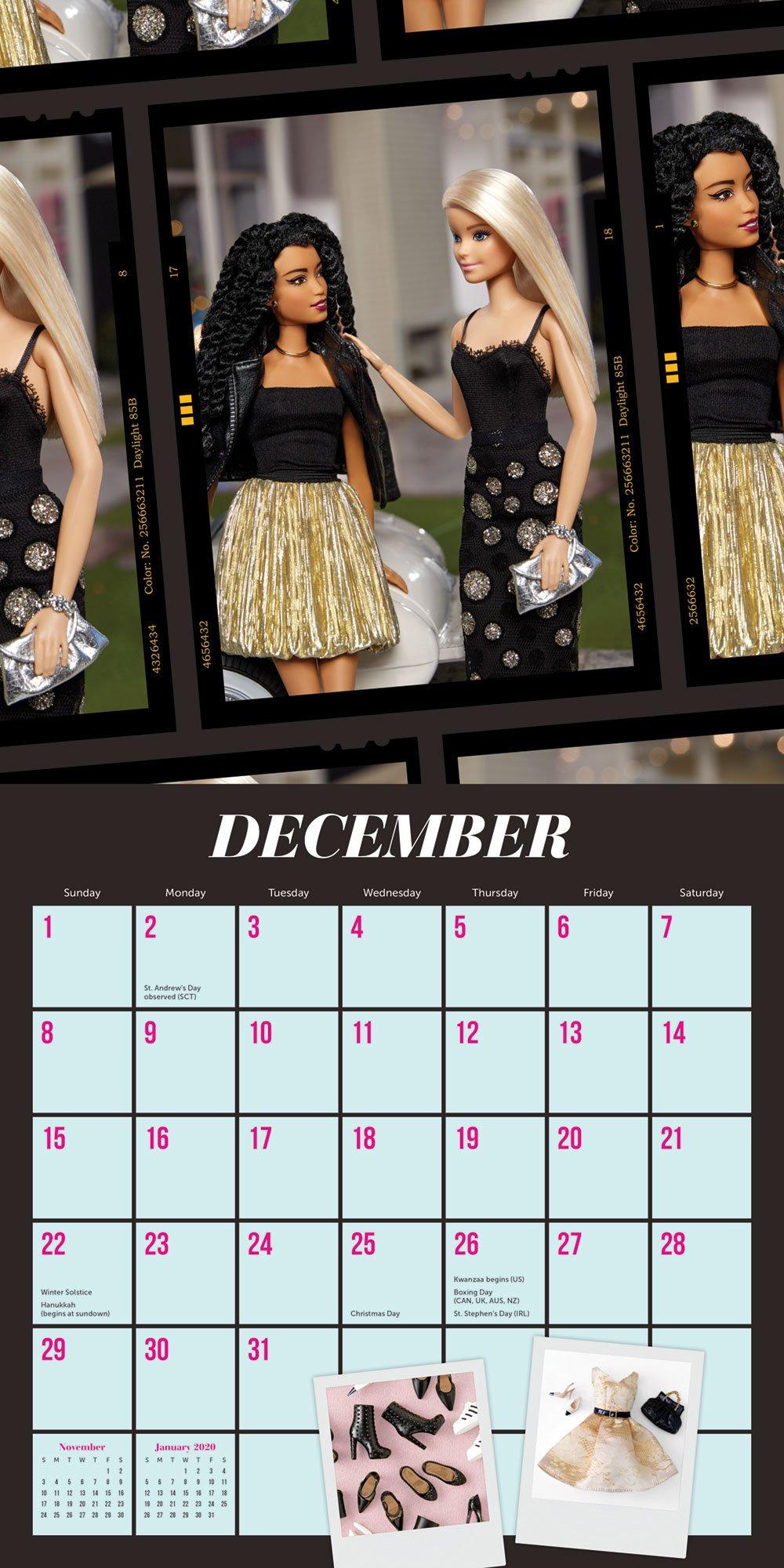Barbie Style 2019 Wall Calendar