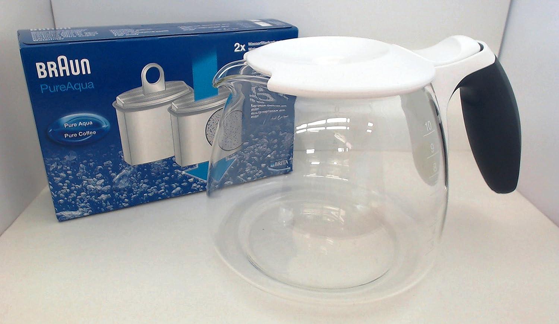 Braun - Cafetera eléctrica jarra, AromaDeluxe, 67050715 cartucho ...