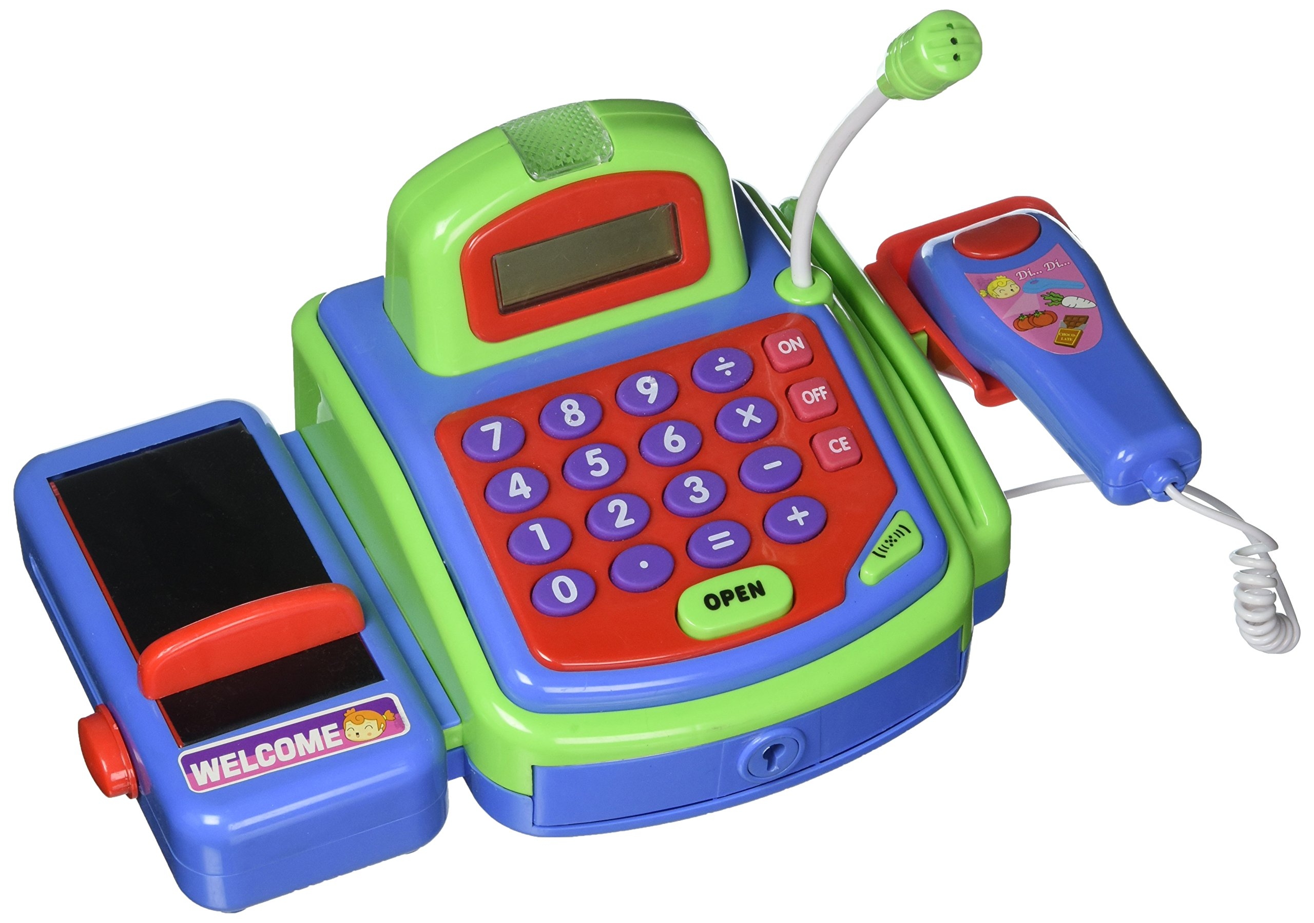 Pretend Play Electronic Cash Register Toy Realistic Actions and Sounds by YMCtoys