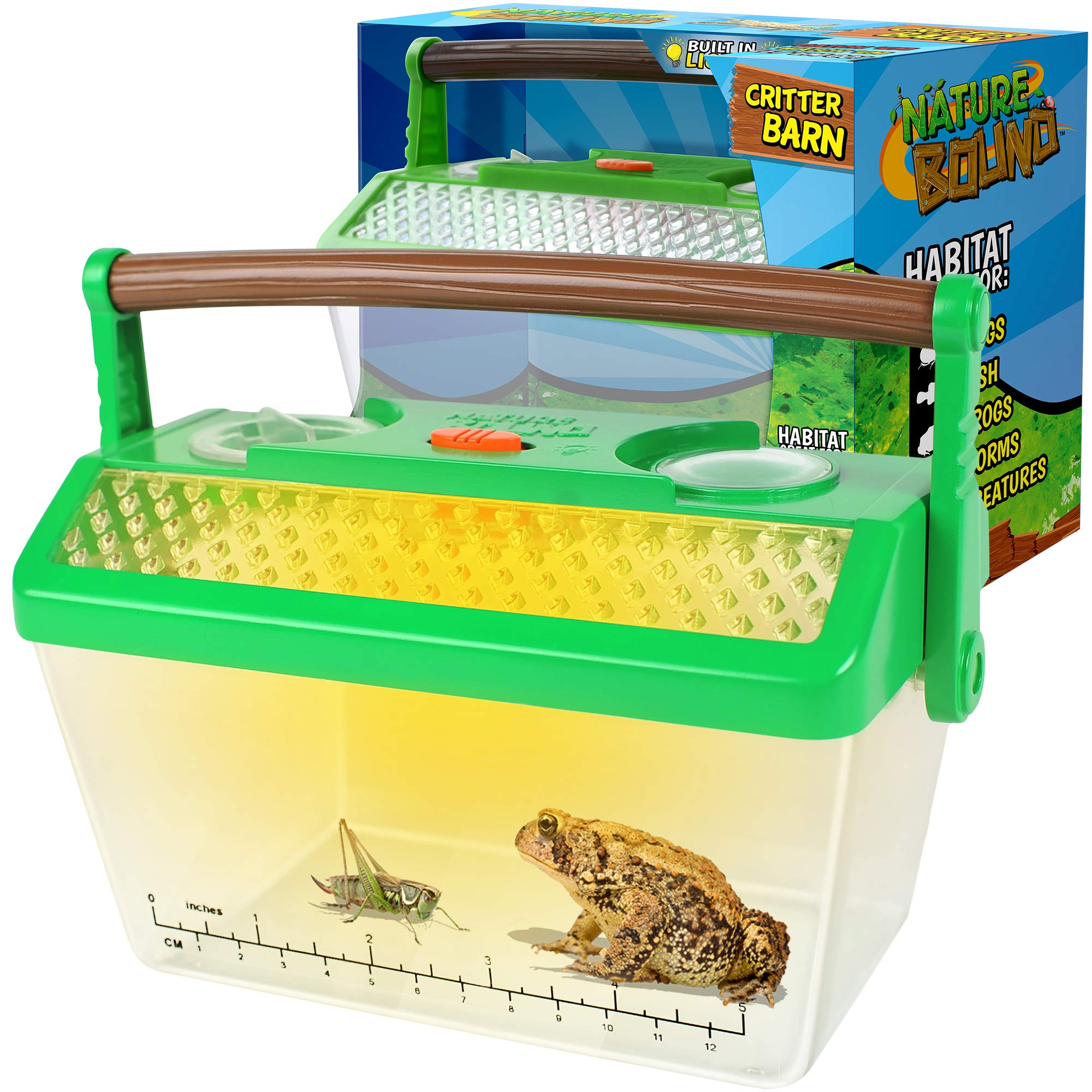 Nature Bound Bug Catcher Critter Barn Habitat for Indoor/Outdoor Insect Collecting with Light Kit, White