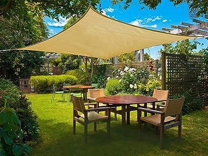 SUNNY GUARD Voile dombrage Rectangulaire 2x3m Imperm/éable Anti UV pour Jardin Terrasse Balcon Sable