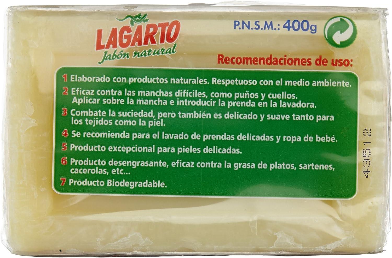 Lagarto - Jabón natural - 400 g: Amazon.es: Belleza