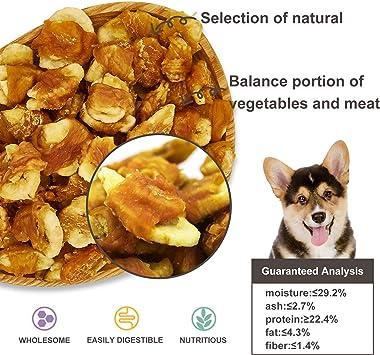 Jungle Calling Rodajas de Plátano Envuelto por Carne de Pollo Snacks para Perros, Chips de Plátano con Envoltura de Pollo, Snacks Molares Crujientes y ...