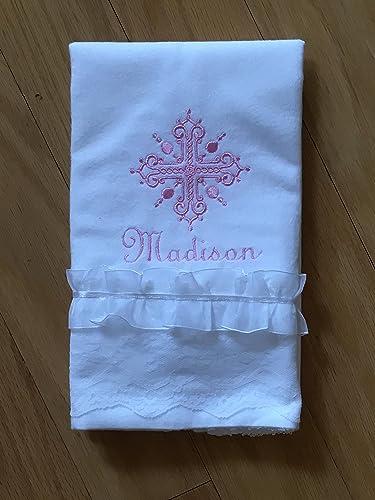 Amazon Com Personalized Baby Burp Cloth Baptism Baby Burp Cloth