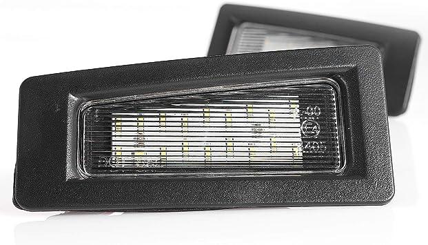 Led Kennzeichenbeleuchtung Kennzeichenleuchte Nummernschildbeleuchtung Plug Play Mit Zulassung Auto