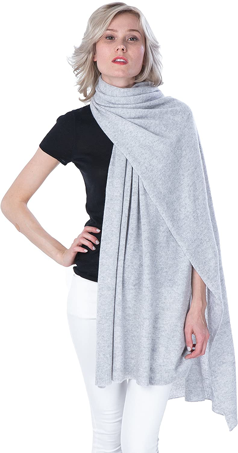100/% Cashmere Wool Scarf Super Soft 12 Inch x 64.5 Inch Shawl Wrap w//Gift Box for Women and Men