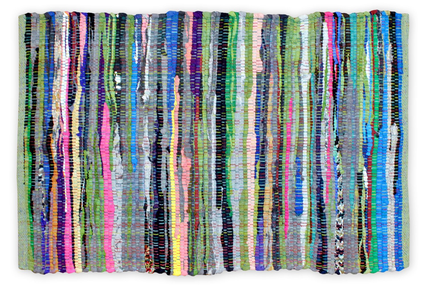 DII Contemporary Reversible One of A Kind Area Rug, Rag Rug For Bedroom, Living Room, Kitchen, 8 x 10' - Multi Colored by DII