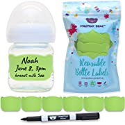 Baby Bottle Labels for Daycare, 6 Pcs (Green)
