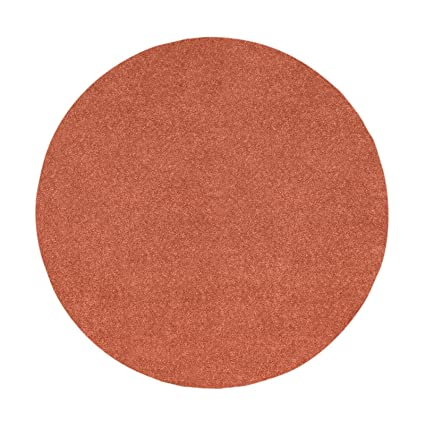 8068eb5fda Amazon.com  Bright House Solid Color Rust 14 x14  Round - Area Rug ...