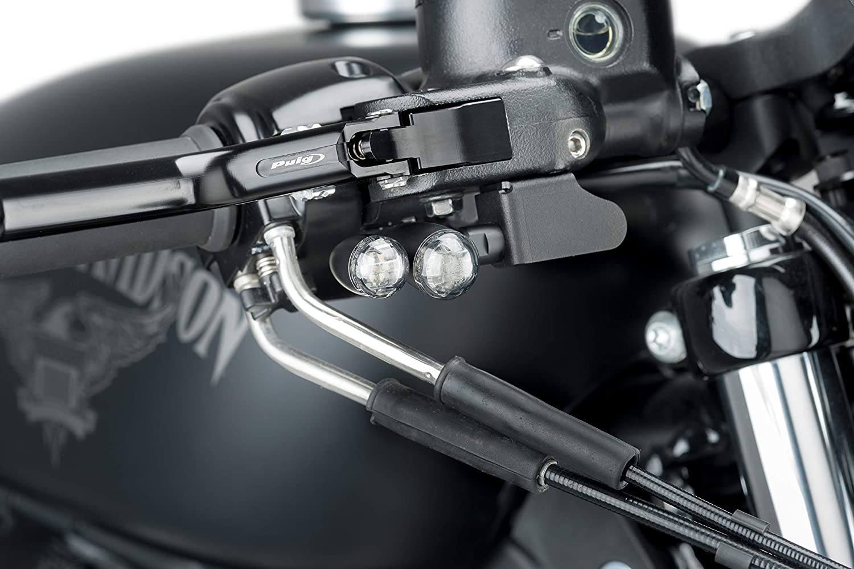 Puig Juego Soportes Intermitente Delanteros 9735N para Harley Davidson Sportster 883 Iron 09-19