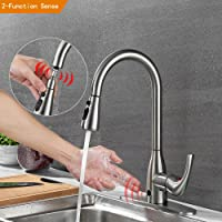 Touchless Kitchen Faucets With Pull Down Sprayer Brushed Nickel One Handle  High Arc Pullout Kitchen