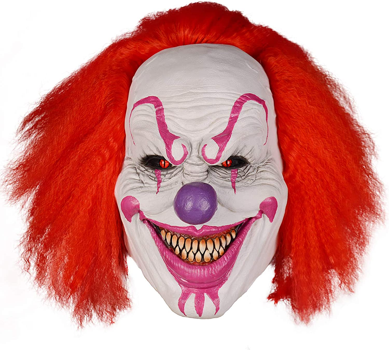 Cosplay Clown Mask Halloween Party Red Eye Latex Mask