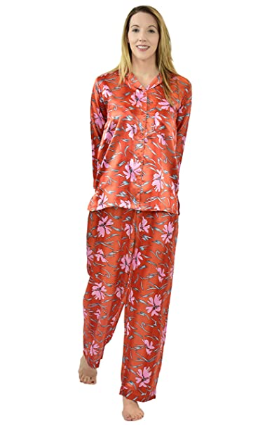Satin Pajama Sets for Women in Variety of Prints at Amazon Women s Clothing  store  5e891dba7