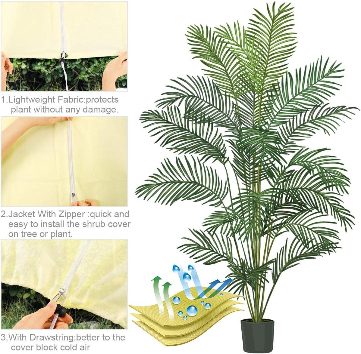 Protege de Bajas temperaturas los Cultivos de Plantas para Flores Arbustos /Árboles 180x120CM TOCYORIC Cubre Plantas Cubiertas de Protecci/ón Vegetal Funda Protectora para Plantas