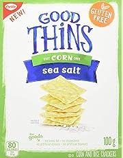 Good Thins Gluten-Free Corn Crackers, Sea Salt, 1 Box