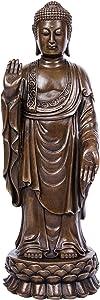 Toperkin Buddha Statues Bronze Sculptures Buda Decorations TPFX-B96