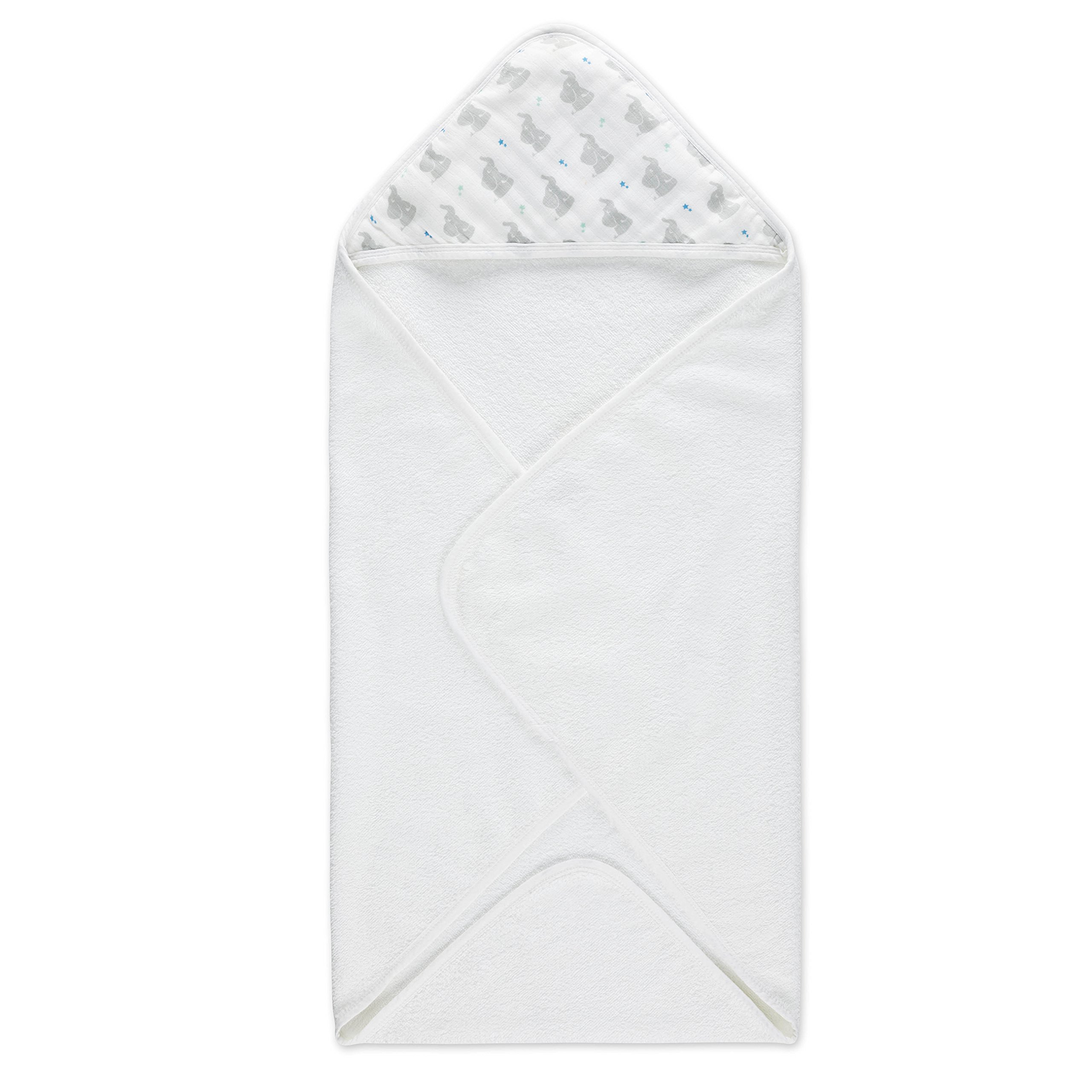 aden by aden + anais hooded towel, baby star