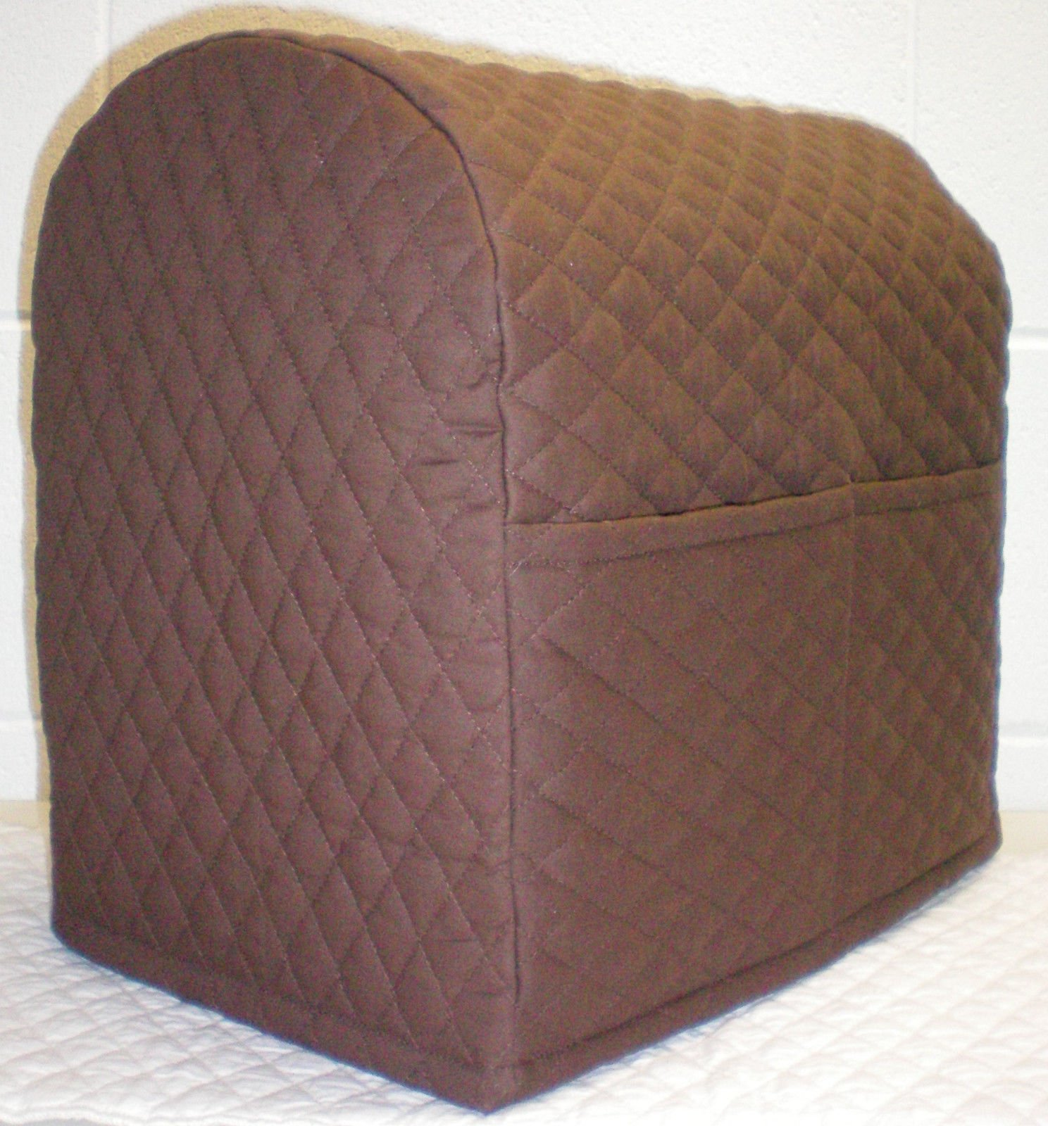 Quilted Kitchenaid Stand Mixer Cover (Chocolate Brown, 3.5 qt Artisan Mini Tilt Head)